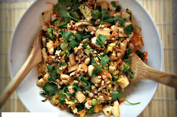 Spring Green Halloumi Salad