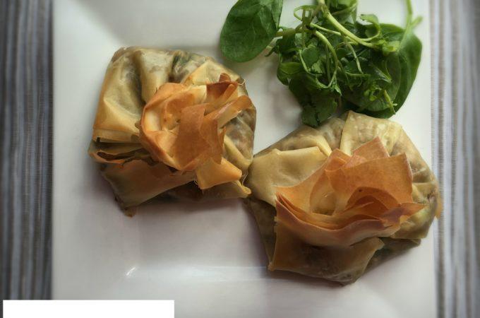 Shiitake Mushroom and Pecorino Parcels
