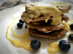 Nrgizepilates Blueberrypancakesmangoandbananasauce-300x223 Blueberry Pancakes with Mango and Banana Sauce (Gluten Free)