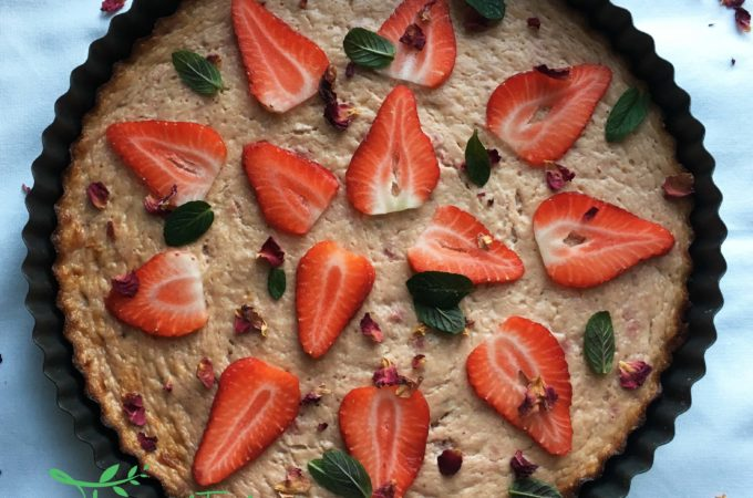 Brain Boosting Strawberry Banana Cheesecake